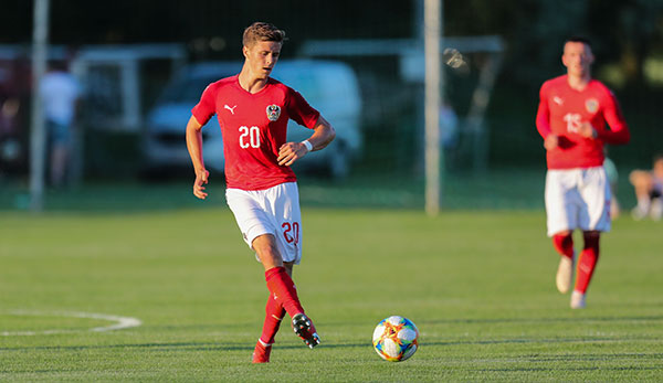 Christoph Baumgartner im Dress der ÖFB-U21.