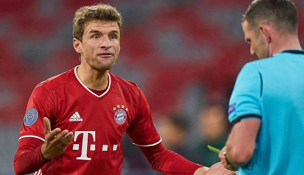 "Do you speak English, Mister Referee? Thomas Müller legte in der Champions League einen Wahnsinns-Auftritt hin und bezeichnete Atletico als ""Rabaukentruppe""."