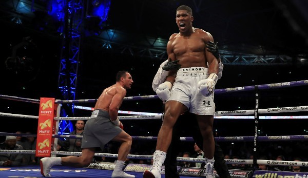 Anthony Joshua besiegte Wladimir Klitschko im Wembley Stadium